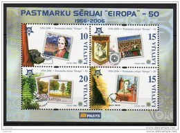 LATVIA 2006  50 Years Of Europa Stamps Block MNH / **.  Michel Block 21 - Latvia