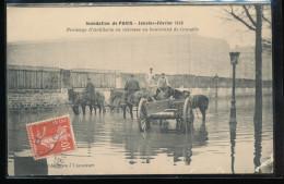 75 -- Inondation De Paris -- Prolonge  D'Artillerie En Detresse Au Boulevard De Grenelle - Inondations De 1910