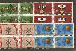 Schweiz, 1954 Werbemarken Zu 316-319 ET Viererblock, Bern Ausgabetag, Siehe Scans! - Used Stamps