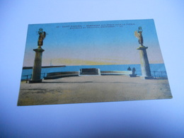 44 LOIRE ATLANTIQUE CARTE ANCIENNE EN COULEUR DE 1932 SAINT NAZAIRE MONUMENT AUX MORTS POUR LA PATRIE FOUCAULT ET GUILLO - Saint Nazaire