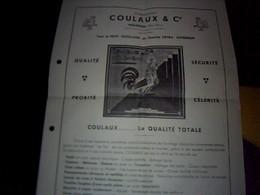 Publicité Ancienne  Tract Outillage Coulaux A Molsheim Annee 1936 - Publicités