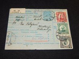 Yugoslavia 1922 Zagreb 1 Parcel Card__(L-23870) - 1919-1929 Royaume Des Serbes, Croates & Slovènes
