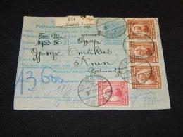Yugoslavia 1922 Zagreb 2 Parcel Card__(L-23869) - 1919-1929 Koninkrijk Der Serviërs, Kroaten En Slovenen