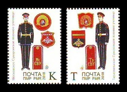 Moldova (Transnistria) 2018 No. 837/38 Suvorov Military Schools MNH ** - Moldova