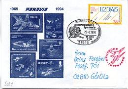"(BWL) BRD Sonderumschlag Bundeswehr ""PANAVIA - TORNADO 1969-1994"" SSt 25.6.1994 WUNSDORF 1 - Storia Postale"