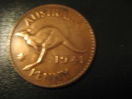 One Penny 1941 George VI AUSTRALIA Coin Kangaroo - Monnaie Pré-décimale (1910-1965)