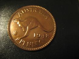 One Penny 1948 George VI AUSTRALIA Coin Kangaroo - Monnaie Pré-décimale (1910-1965)