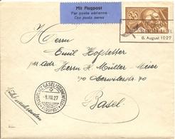 Schweiz, 1927, Fug St. Gallen 8.8.1927 Mit Zu F6, Siehe Scans - Switzerland
