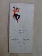 86 LOUDUN  CLASSE 1925 SOIREE DANSANTE DU 11 OCTOBRE  1924 AU  SALON   DE L  HOTEL  DE VILLE ---  ORCHESTRE   LEMERT - Programs