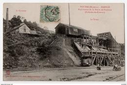Voutré Mayenne Exploitation Porphyre Animation 1906 état Superbe - France