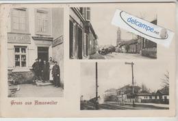 """AMANWEILER: Multivues,Commerce""""Mille Claude"""",Gare Avec Train,Rue,animée. - France"""