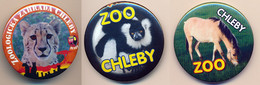 Button ZOO Chelby, Czech Rep. - Black And White Ruffed Lemur - Badges