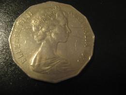 50 Cents 1973 QEII AUSTRALIA Coin - Decimale Munt (1966-...)