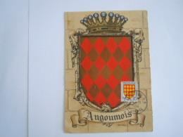 France 1954 Armoiries De Province Angoûmois Carte Maximum Premier Jour Charente Yv 1001 - 1950-59
