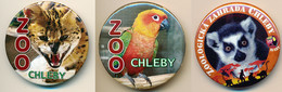 Button ZOO Chelby, Czech Rep. - Serval - Badges