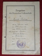 Zeugnis Deutsche Volksschule Bockwitz Liebenwerda 1943-1950 - Diplome Und Schulzeugnisse