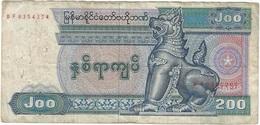 Myanmar 200 Kyats 1990 Pick 75a Ref 1913 - Myanmar