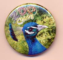 Button ZOO Chelby, Czech Rep. - Peacock - Ohne Zuordnung