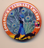 Button ZOO Chelby, Czech Rep. - Peacock - Badges