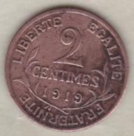 2 Centimes Dupuis 1919 - France