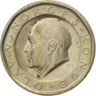 Monnaie, Norvège, Olav V, 10 Kroner, 1991, TTB+, Nickel-brass, KM:427 - Norvège