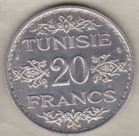 TUNISIE. 20 FRANCS 1934 (AH 1353). ARGENT / SILVER - Túnez