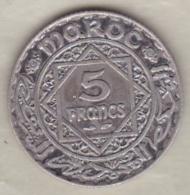 Maroc Protectorat Français. 5 Francs AH 1352 (1933), Mohammed V , En Argent - Maroc