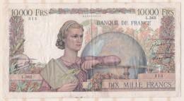 10 000 Francs Génie Français 19 12 1946 Alphabet L.362, Numéro 312 - 1871-1952 Anciens Francs Circulés Au XXème