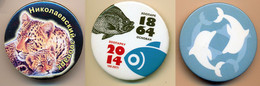 Button ZOO Moscow, Russia - 150 Years Anniversary - Badges