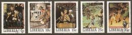Liberia 1979  Norman Rockwell Various Values Fine Used - Liberia