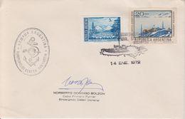 Argentina 1972 Rompehielos San Martin  Signature Cover Ca 14 Ene 1972 (40321) - Poolshepen & Ijsbrekers