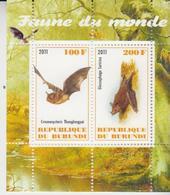 Burundi 2011 M/S Cinderella Issue Stamps Bats Bat Fauna Wild Animals Mammals Nature Wildlife Animal Mammal MNH (1) - Bats