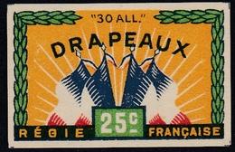 France - Matchbox Label, Small Size - Drapeaux (French Flags) - ** MNH - Boites D'allumettes - Etiquettes