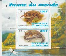 Burundi 2011 M/S Cinderella Issue Stamps Bats Bat Fauna Wild Animals Mammals Nature Wildlife Animal Mammal MNH (2) - Bats