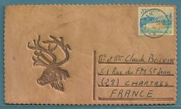• CPM EN CUIR ÉPAIS - SUÈDE - TÊTE DE CERF - Cartes Postales