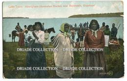 CARTOLINA ABORIGENI LAKE TYERS ABORIGINALS NEAR BAIRNSDALE GIPPSLAND AUSTRALIA ANNO 1909 - Aborigeni