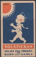 Sweden - Matchbox Label - Solstickan: Sun And Child - ** MNH - Boites D'allumettes - Etiquettes