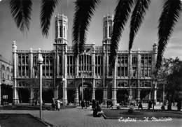 """08397 """"CAGLIARI - IL MUNICIPIO"""" ARCH. '900.  ANIMATA. CART SPED 1954 - Cagliari"""