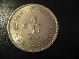 1 One Dollar 1970 HONG KONG QEII Coin China Chine GB Area - Hong Kong