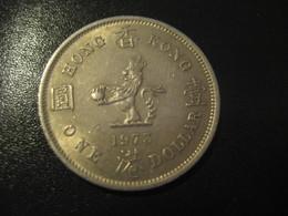 1 One Dollar 1973 HONG KONG QEII Coin China Chine GB Area - Hong Kong
