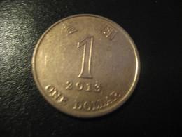 1 One Dollar 2013 HONG KONG Coin China Chine GB Area - Hong Kong