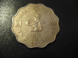 2 Two Dollars 1975 HONG KONG Coin QEII China Chine GB Area Dollar - Hong Kong