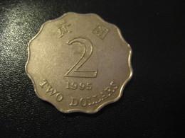 2 Two Dollars 1995 HONG KONG Coin China Chine GB Area Dollar - Hong Kong