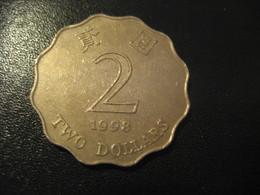 2 Two Dollars 1998 HONG KONG Coin China Chine GB Area Dollar - Hong Kong