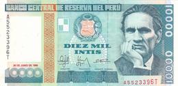 Peru - 10000 10.000 Intis 28 June 1988 - UNC - Pérou
