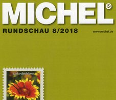 MICHEL Briefmarken Rundschau 8/2018 Neu 6€ Stamps Of The World Catalogue/magacine Of Germany ISBN 978-3-95402-600-5 - Motivkataloge