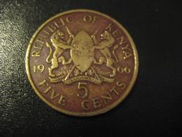 5 Five Cents 1966 KENYA Coin - Kenya