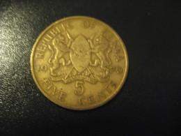 5 Five Cents 1970 KENYA Coin - Kenya