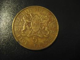 5 Five Cents 1975 KENYA Coin - Kenya