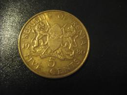 5 Five Cents 1980 KENYA Coin - Kenya